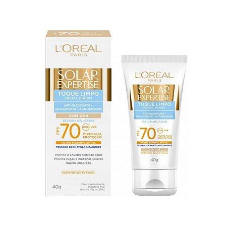 L'Oréal Paris Solar Expertise Facial Toque Limpo com Cor FPS 70 - Protetor Solar 40g