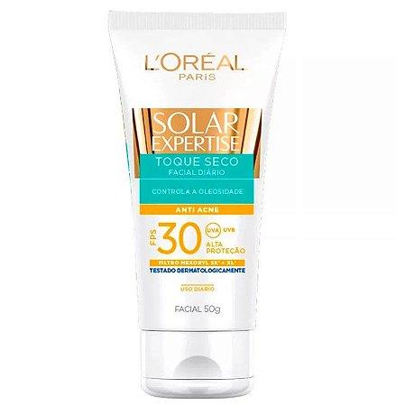 L'Oréal Paris Solar Expertise Facial Toque Seco Antiacne FPS 30 - Protetor Solar 50g