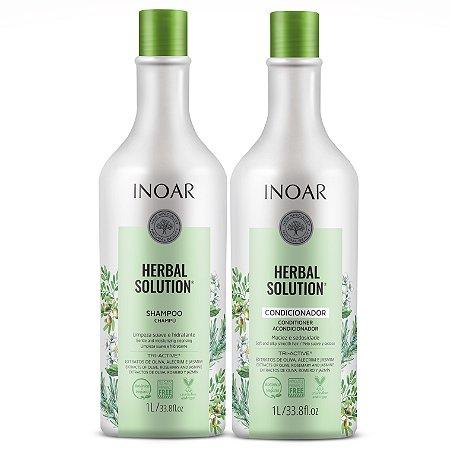 Inoar Kit Herbal Solution - Shampoo e Condicionador 1000ml