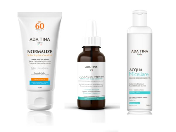 Kit Ada Tina 2 - Normalize Solar Hydra Comfort + Verian Collagen Peptide + Acqua Micellare