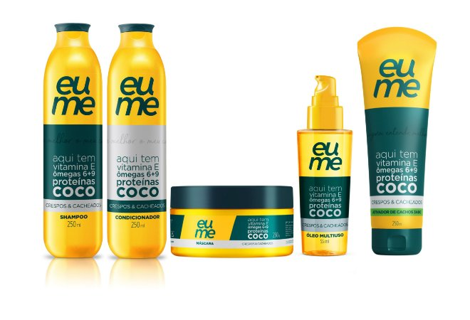 Kit Eume Cachos - Shampoo + Condicionador + Máscara + Óleo + Ativador de Cachos
