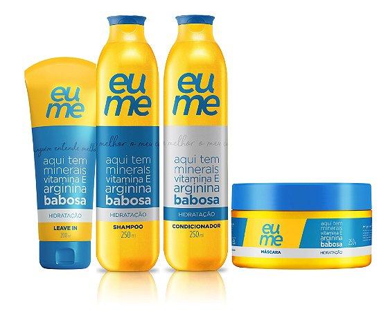Kit Eume Hidratação - Shampoo + Condicionador + Máscara + Leave-in