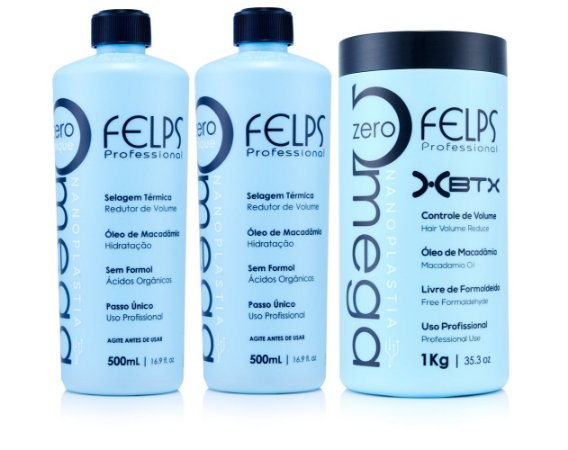 Kit Felps Omega Zero - 2 Nanoplastia 500ml + 1 Máscara 1kg