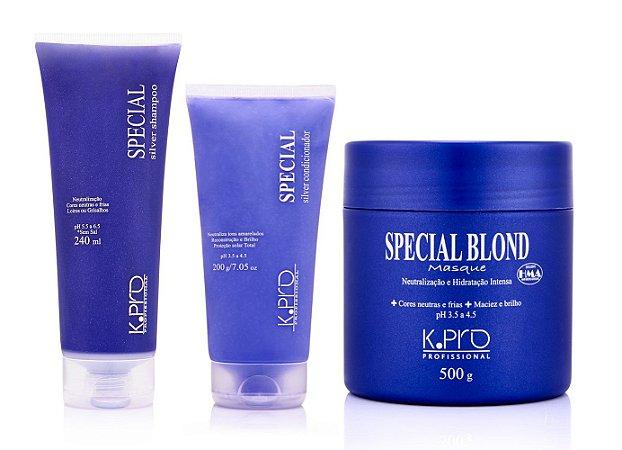 Kit K.Pro Special - Shampoo + Condiconador + Máscara