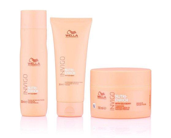 Kit Wella Nutri-Enrich - Shampoo + Condicionador + Máscara