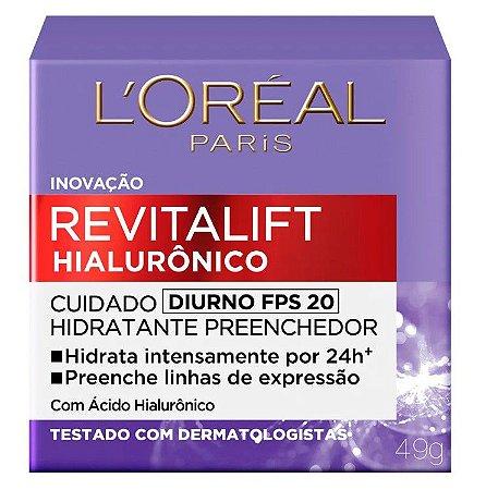 L'Oréal Paris Revitalift Hialurônico Diurno FPS 20 - Hidratante Preenchedor 49g