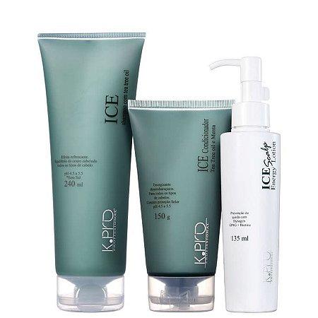 Kit K.Pro Ice Energia - Shampoo + Condicionador + Loção