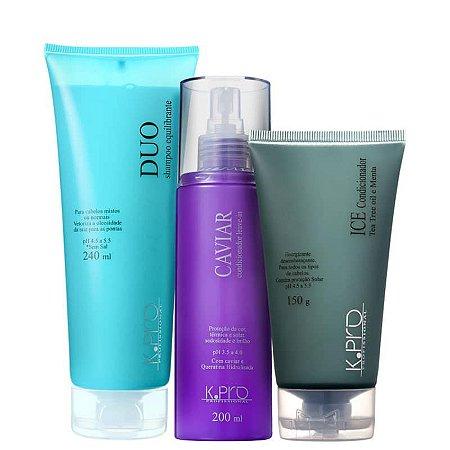 Kit K.Pro Ice Caviar - Shampoo + Condicionador + Leave-in
