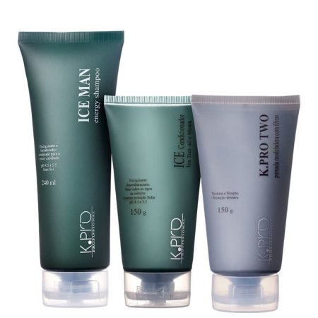 Kit K.Pro Ice Man Style Two - Shampoo + Condicionador + Pomada