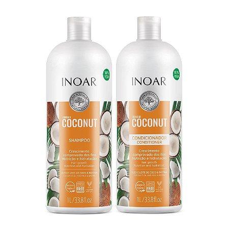 Inoar Kit Bombar Coconut - Shampoo e Condicionador 1000ml