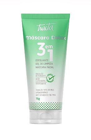 Tracta Máscara Detox 3 em 1 - Máscara Facial 75g