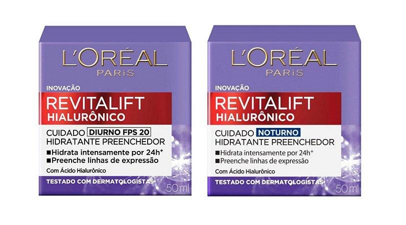 Kit L'Oréal Paris Revitalift Hialurônico (Diurno + Noturno)