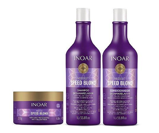 Kit Inoar Absolut Speed Blond - Shampoo, Condicionador e Máscara