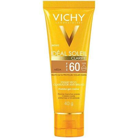 Vichy Idéal Soleil Clarify FPS 60 Média - Protetor Solar 40g