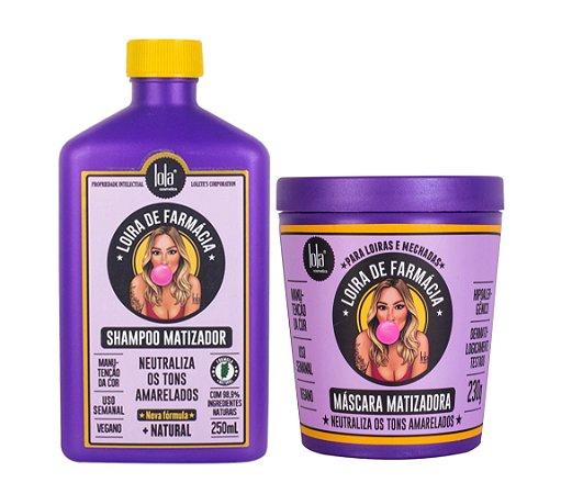 Kit Lola Loira de Farmácia - Shampoo e Máscara