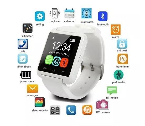 7dad39fb82a Relógio Smartwatch U8 Relógio Inteligente Android Ios Apple Galaxy frete  grátis