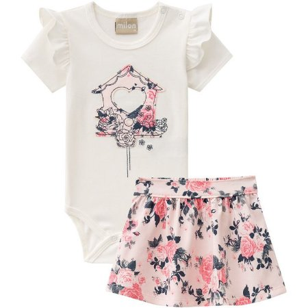CONJUNTO BODY MANGA CURTA CASINHA MILON