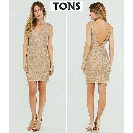 1476d88d39 vestido curto dourado nude - Tons