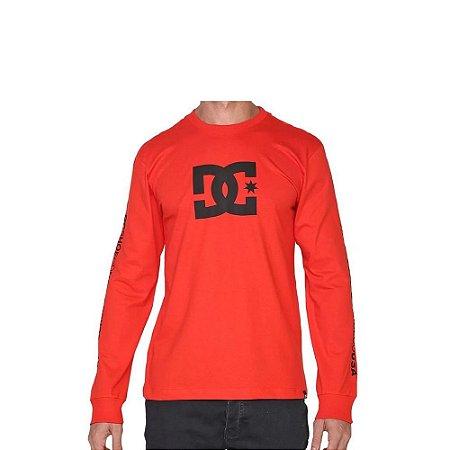 Camiseta DC Shoes Star Sleeve Vermelho
