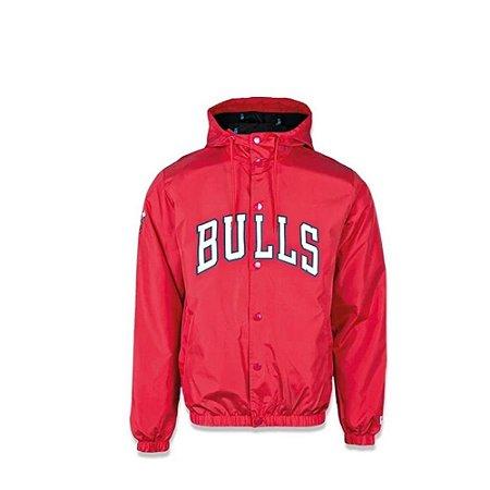 Jaqueta New Era Corta Vento NBA Chicago Bulls College Script