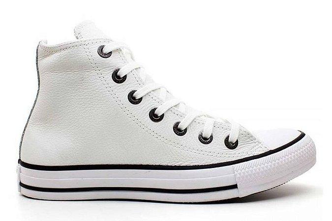 Tênis Converse All Star Hi Couro - Branco