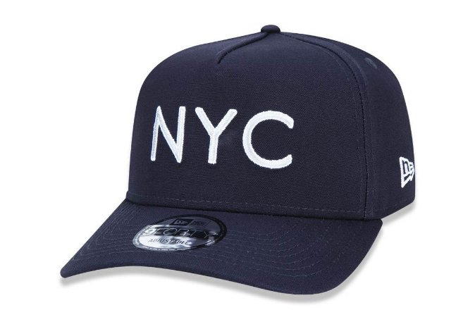 Boné New Era 940 New York NYC Logo - Marinho
