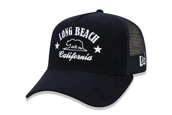 Boné New Era 940 Aba Curva Trucker Long Beach - Snapback
