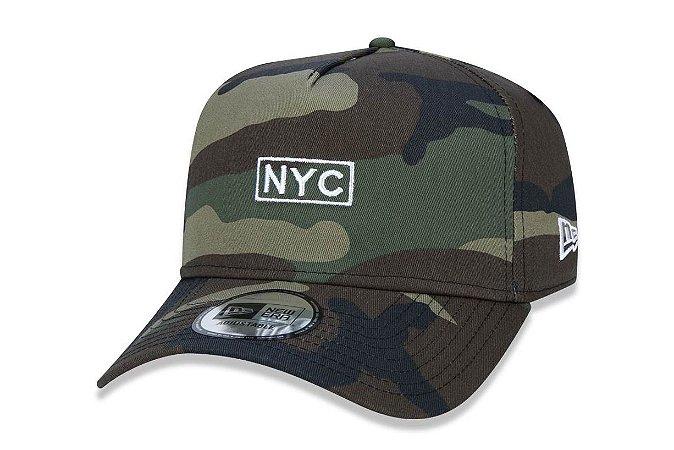Boné New Era 940 Aba Curva NYC Camo - Snapback