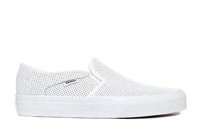 Tênis Vans Asher Slip-on Perf Leather