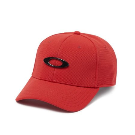 Boné Oakley Aba Curva Tincan Vermelho - Fechado