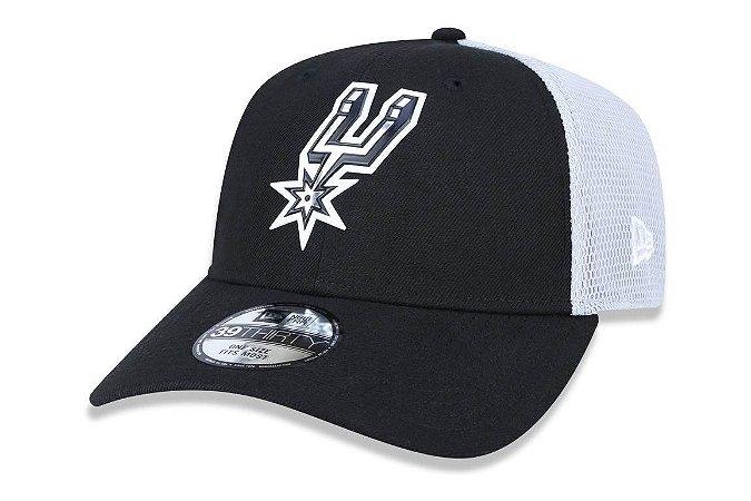 Boné New Era 3930 Aba Curva San Antonio Spurs - Fechado