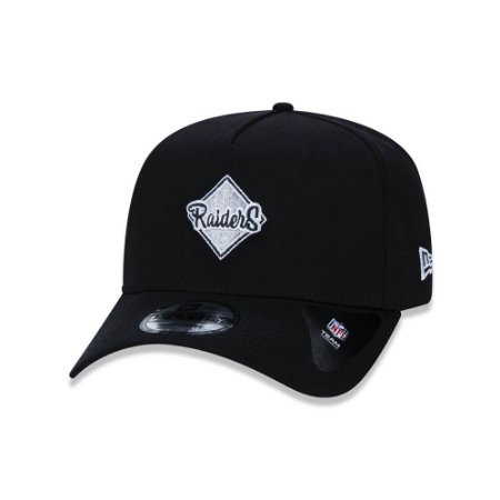 Bone New Era 940 Oakland Raiders Retro logo - Preto