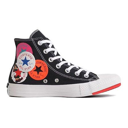 Tênis Converse Chuck Taylo All star Hi Logo Play - Preto