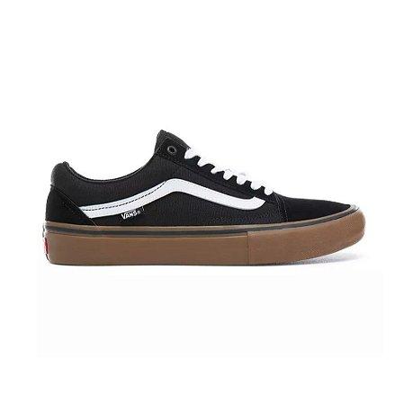 Tênis Vans Old Skool Skate Pro - Preto/Kaki