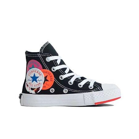 Tênis Converse Chuck Taylor All Star Hi Logo Play Infantil - Preto