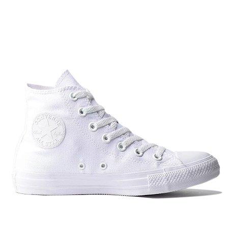 Tênis Converse Chuck Taylor Hi Monochrome  - Branco/Branco