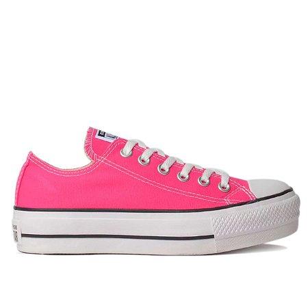 Tênis Converse Chuck Taylor All Star Plataforma - Rosa Neon