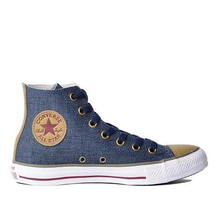Tênis Converse Chuck Taylor All Star Hi - Marinho/Caqui
