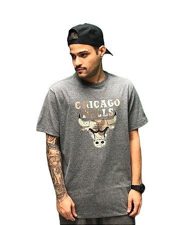 Camiseta New Era Camo Box Chicago Bulls