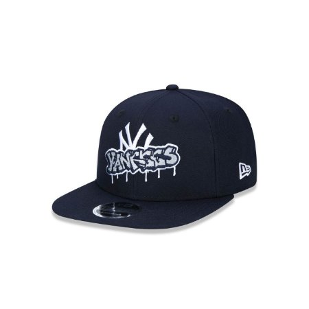 Boné New Era 950 New York Yankees Graffiti Logo - Marinho