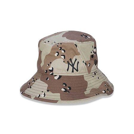 Bucket New Era New York Yankees Camuflado - Marrom