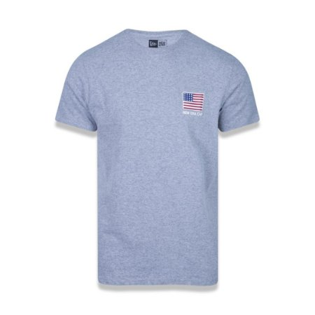 Camiseta New Era USA Flag - Cinza