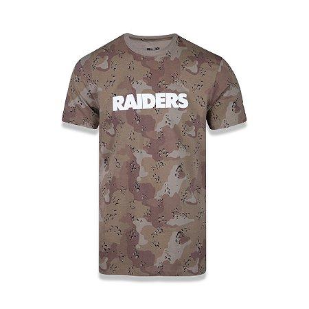 Camiseta New Era Oakland Raiders - Camuflado