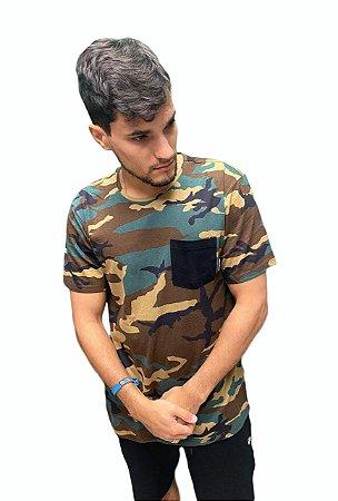 Camiseta DC Especial Camuflada Masculina