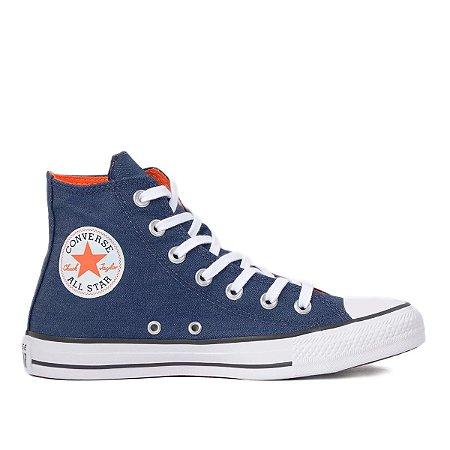 Tênis Converse Chuck Taylor All Star Hi - Marinho/Laranja