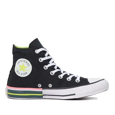Tênis Converse Chuck Taylor All Star Hi - Preto/verde