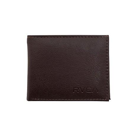 Carteira RVCA Crest Bi Fold - Marrom