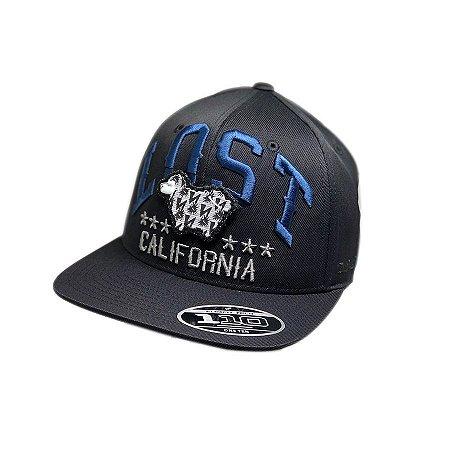 Boné Strapback Lost Califórnia - Azul/Cinza