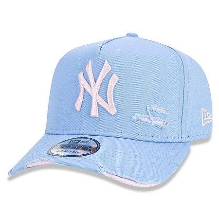 Boné New Era 940 Aba Curva Destroyed New York Yankees - Strapback