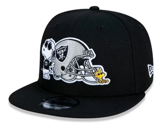 Boné New Era Peanuts Raiders Preto